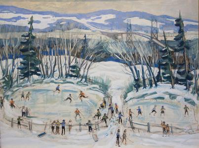 Iceskaters on Montmorency