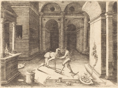 Two Apprentices Fighting