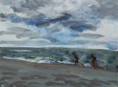 Zwei Läufer am Meer