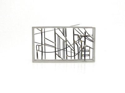 Downtown Landscape Brooch