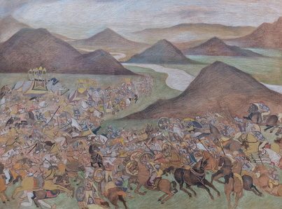 The Battle of the Hydaspes River