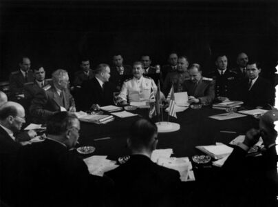 Stalin at the Potsdam Conference, July, 1945