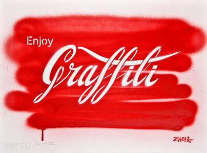 Enjoy Graffiti Hand Sprayed