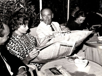 Henry Fonda and his wife Afdera Franchetti