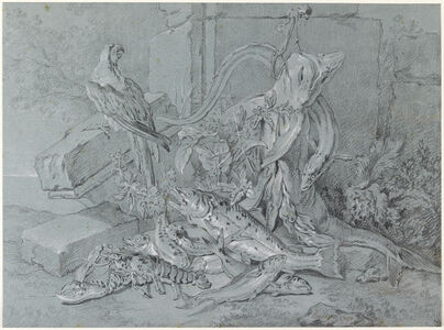 Still-life with Fish and Parrot