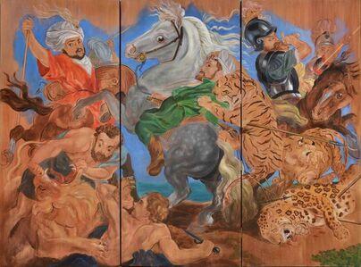La caza del tigre, el leopardo y el león, Rubens 1616