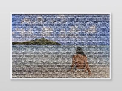 Jennifer in Paradise, Texurizer_Burlap_bottom, CS6 lenticular series