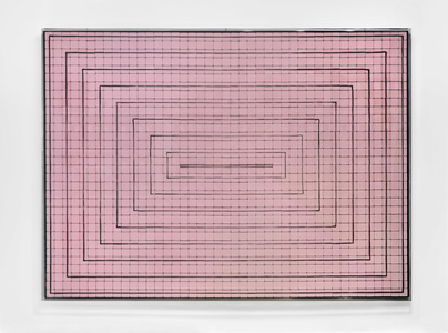 Concentric Rectangles, Pink