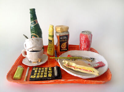 Tray with Selected Objects