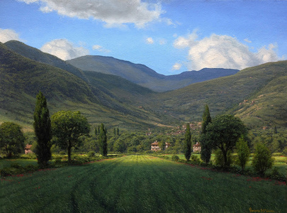 Passing Clouds in the Tuscan Hills