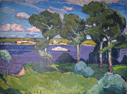 Boat on the Dnieper