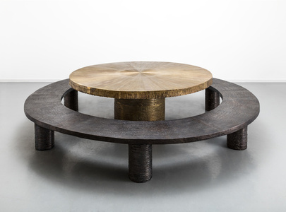Radiant Table and Ice Ring Bench