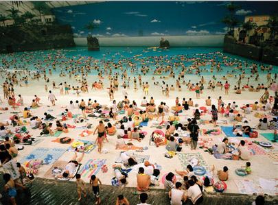 Japan. Miyazaki. The Artificial Beach inside the Ocean Dome