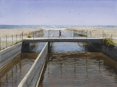 Untitled (Runner & Sewage; Venice, CA)
