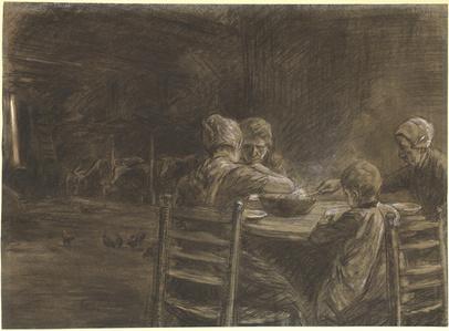 East Frisian Peasants Eating Supper