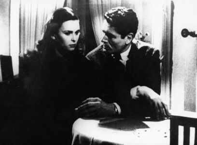 Cronaca di un amore (film still with Lucia Bosè)