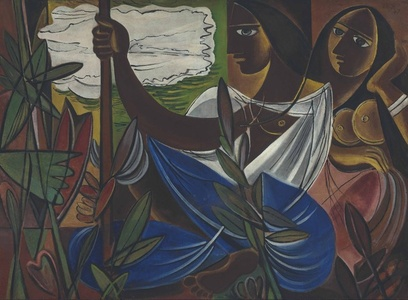 Untitled (Two Women amid Plants)