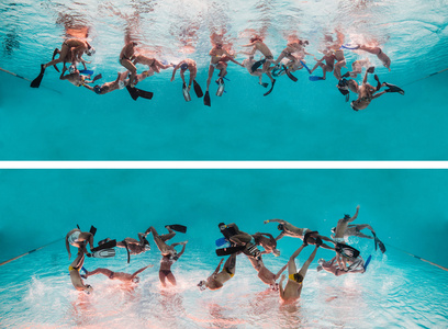 Timeline- Underwater Rugby 1 and 2 (Diptych), ed. 2/5