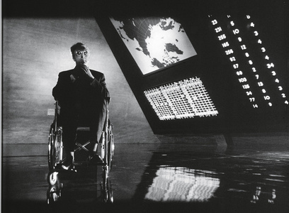 Dr. Strangelove or: How I Learned to Stop Worrying and Love the Bomb, directed by Stanley Kubrick (1963-64; GB/United States). Peter Sellers as Dr. Strangelove.