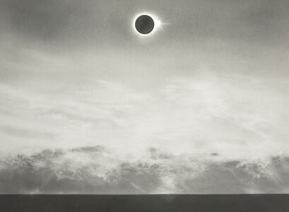 Untitled (eclipse over sea)