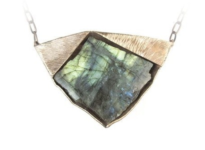 Labradorite and Bronze Necklace