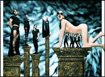 Campagne publicitaire pour la collection Les Classiques Gaultier revisités, prêt-à-porter Femme printemps-été 1993
