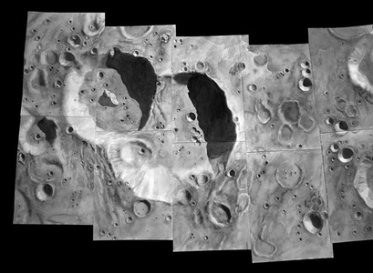 Lunar Mosaic - Challenger Craters