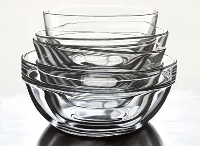 Stacked Glass Bowls