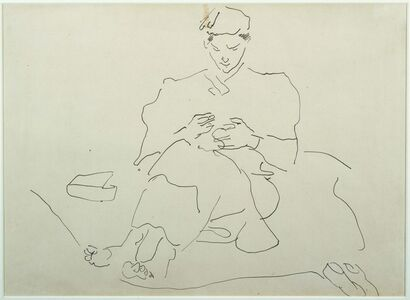 Seated Figure Sewing