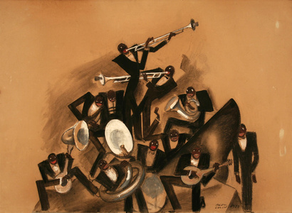 11 Piece Black Jazz Band - Painting / Maquette