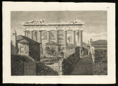 View of the Eastern Portico of the Temple of Minerva at Athens, called the Parthenon