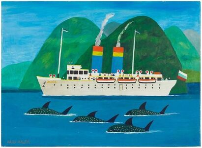 "Luxusliner ""Xenia"", German Outsider Folk Art"
