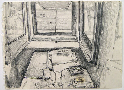 Untitled (window in studio)