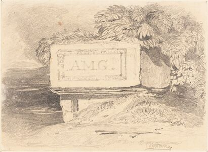 """Ruined Tomb Inscribed """"A.M.G."""""""
