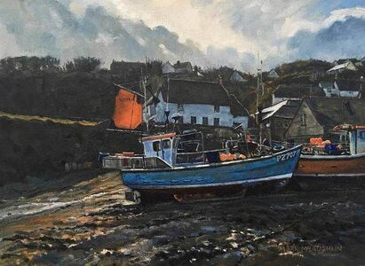 Between the Showers, Cadgwith Harbour, Cornwall