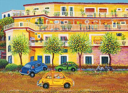 Amalfi street with Lemon tree
