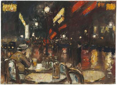 Café de la Paix bei Nacht, Paris