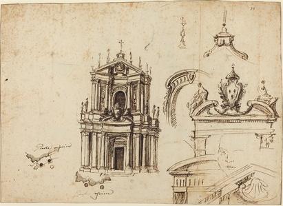 Studies for the Façade of Santa Cristina [recto]