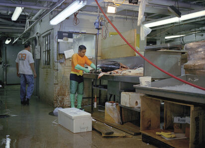 JUVENTINO ROSAS from the State of Mexico works in a fish market in New York. He sends 400 dollars a week.