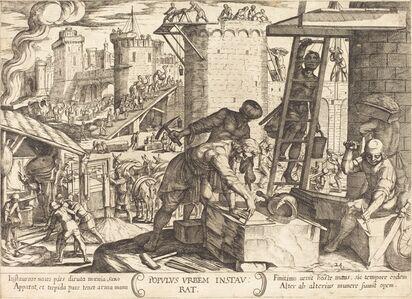 The Israelites Rebuilding the Walls of Jerusalem