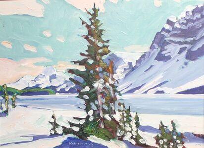 Winter at Bow Lake