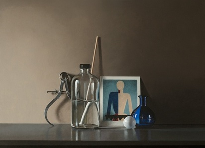 Still Life with Suprematism Figure