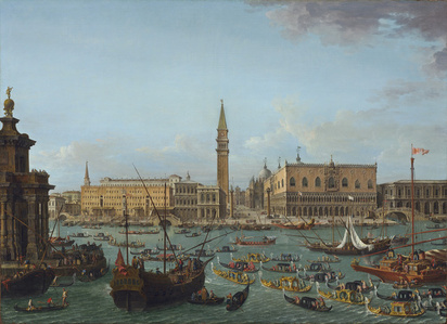 Procession of Gondolas in the Bacino di San Marco, Venice
