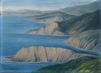 Sin título (paisaje en azules)