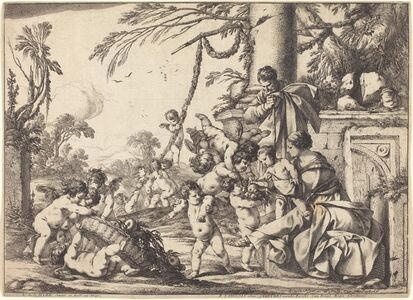 Holy Family with Putti
