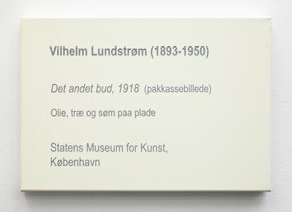 LCM, Vilhelm Lundström, Det andet bud, 1918 (pakkassebillede)