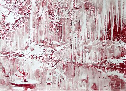 Roter Wasserfall