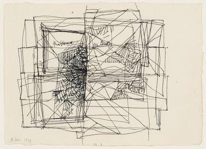 "Study for Installation, ""On Edge, On Center Shatter"" (1968-71), Porto, Portugal, 1999"