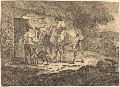Horses at Cottage Door