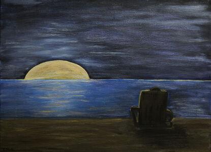 Moonrise on Datai Beach, Langkawi Malaysia,